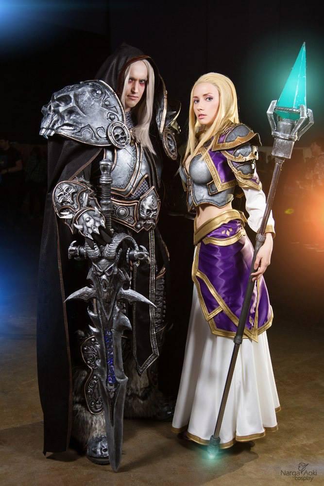 魔獸精品COS推薦 吉安娜與阿爾薩斯之戀