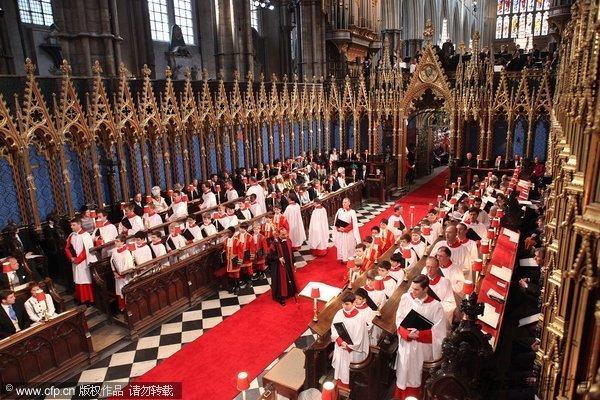 婚礼在威斯敏斯特大教堂举行