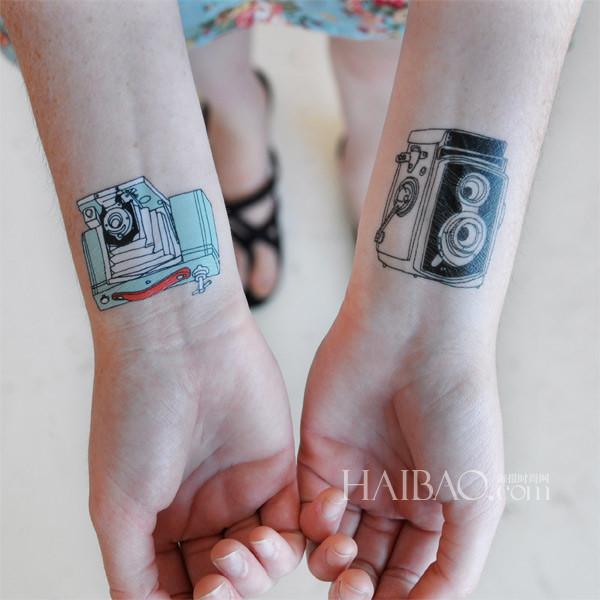皮肤上的童年 充满童趣的纹身贴纸图片