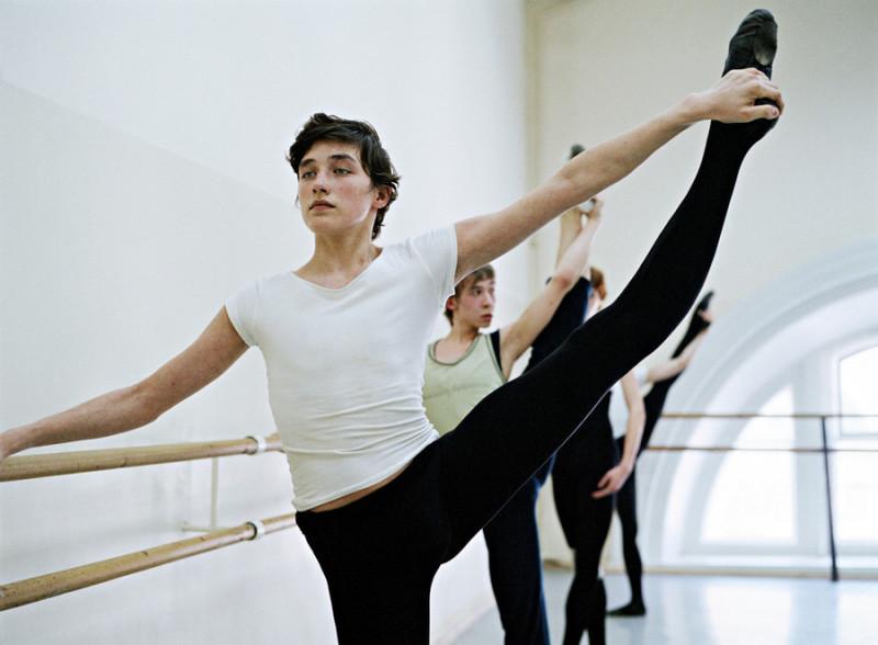 聚焦俄罗斯芭蕾教室的舞蹈演员们