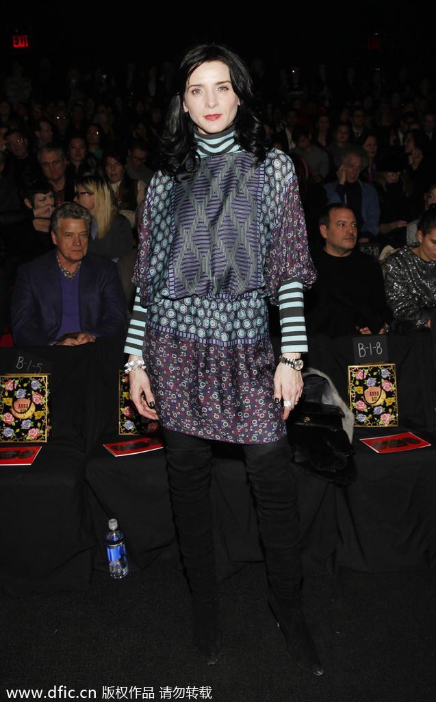 纽约2014秋冬时装周 众星助阵Anna Sui专场秀