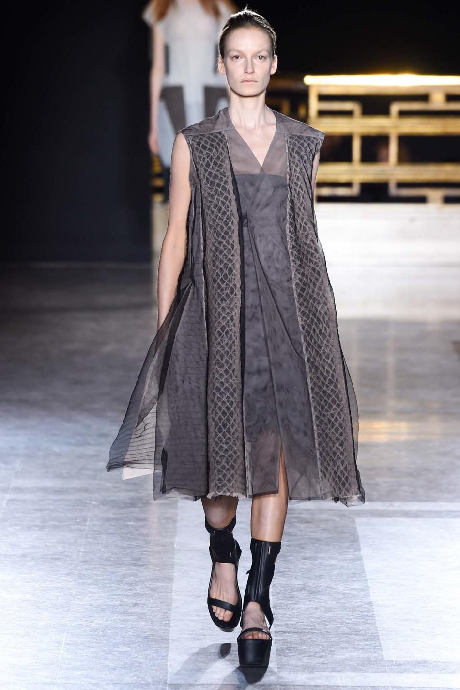 巴黎时装周 Rick Owens   瑞克・欧文斯 2015春夏女装秀发布