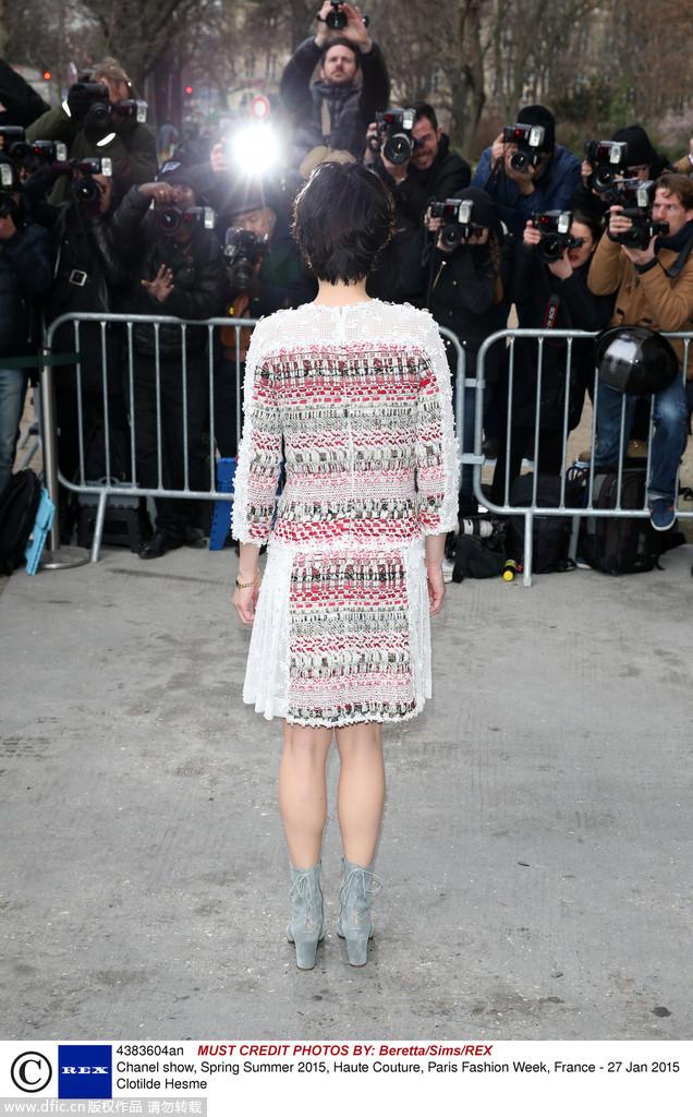 权志龙暮光女 Chanel高定秀场众星璀璨图片