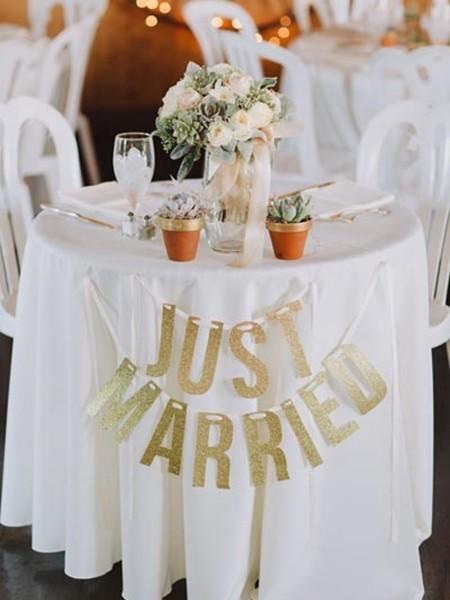 25种方法打造唯美的婚礼餐桌