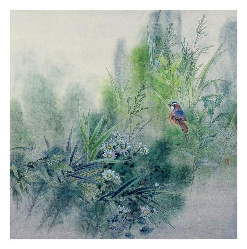 工笔花鸟画作品欣赏 工笔花鸟画大图欣赏 工笔花鸟画作品