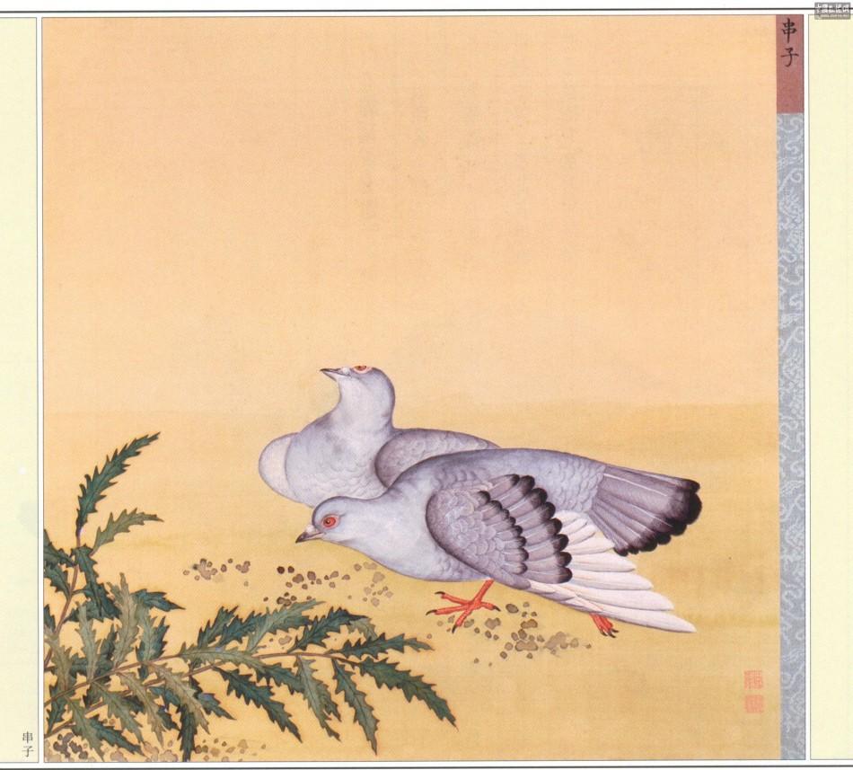 鸽子鸽子谱子-蒋廷锡 北京故宫 博物院