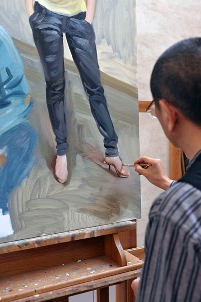 陈丹青油画创作步骤组图