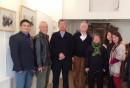 2015年和國內的老師們在巴黎個展現場