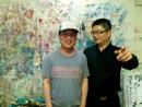王清州和李枚先生在椰石齋