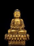 阿弥陀佛 中原 明代(1368-1644)黄铜鎏金
