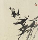 徐锦江 归飞急 纸本水墨  2013年