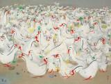 吴冠中 乡音 布面油画 1993年