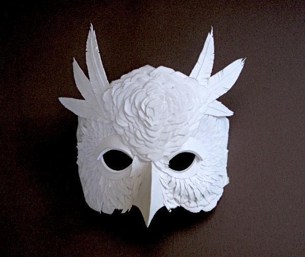 以动物为原型的纸面具.它们看上去很适合万圣节.-Hermes动物纸