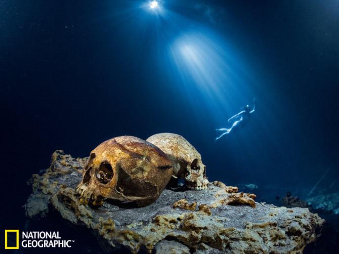 探寻玛雅文明水下神秘遗址:溶井埋葬人类尸骨