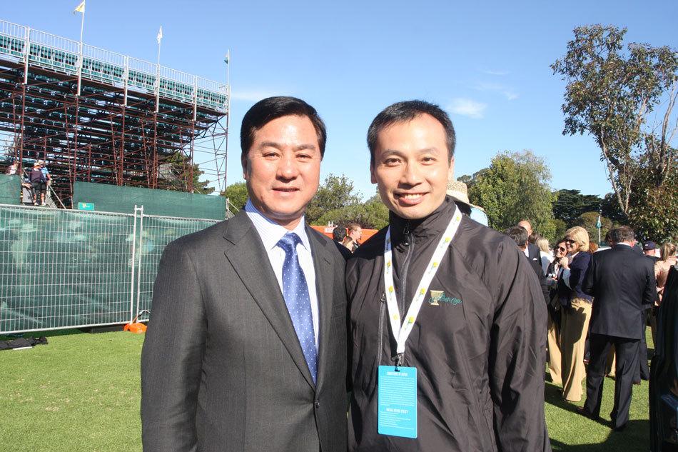 张小宁和东方集团总裁潘仲光