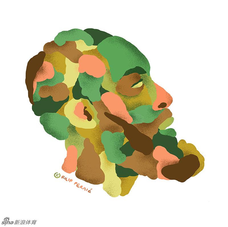 艺术绘画哈登头像