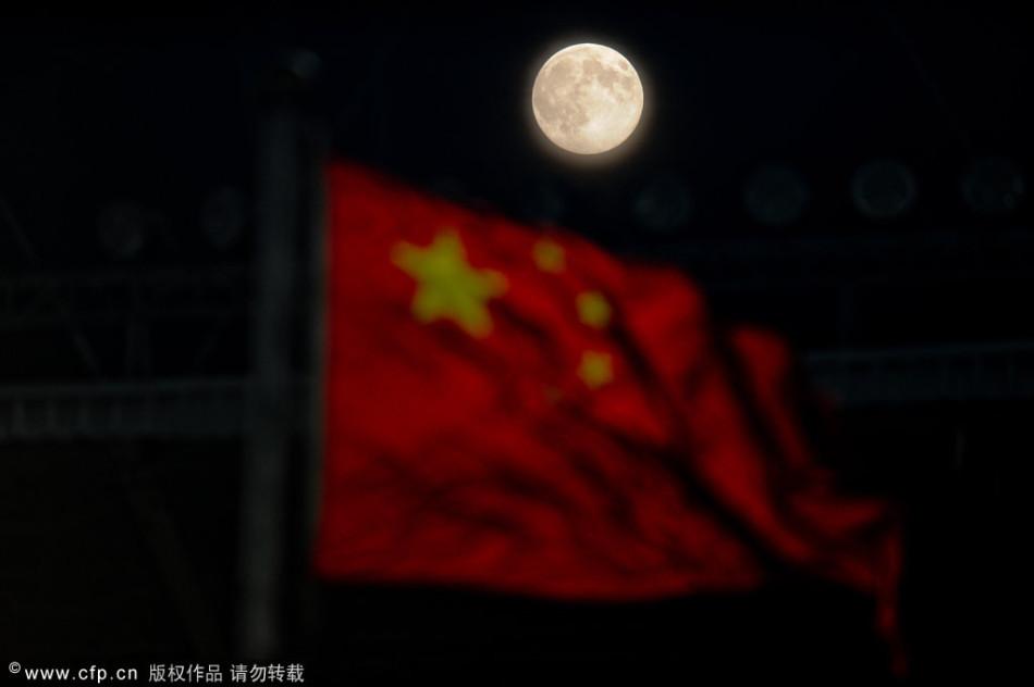 中秋节明月当空唯美瞬间