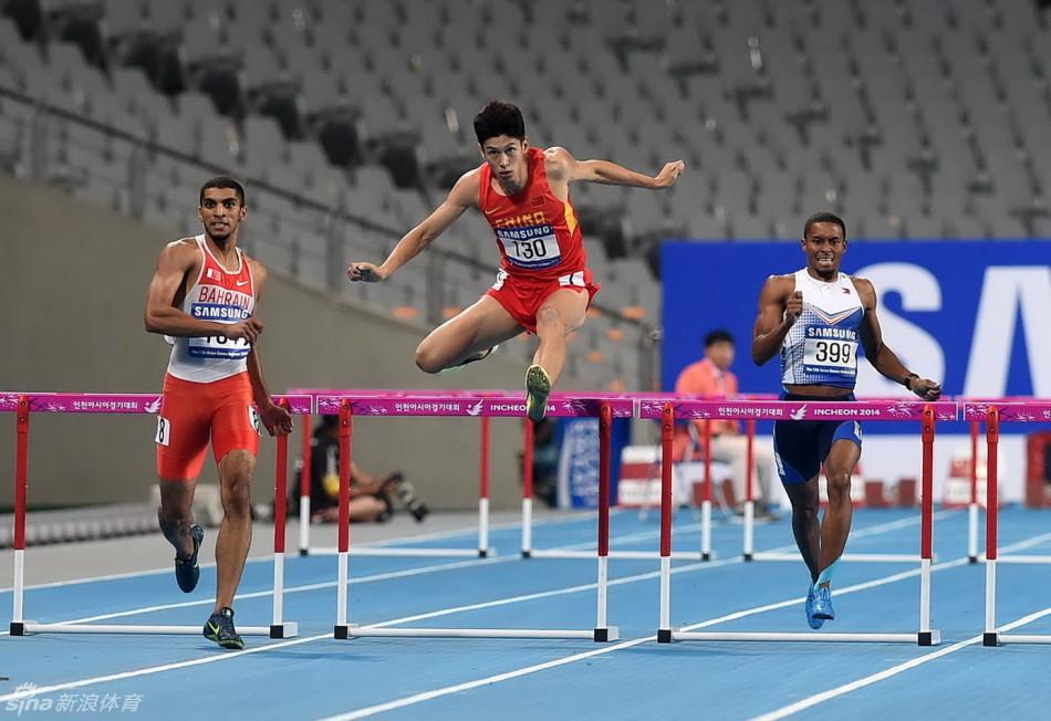 ,2014仁川亚运会田径男子400米栏,巴林选手哈米斯夺冠,日本选