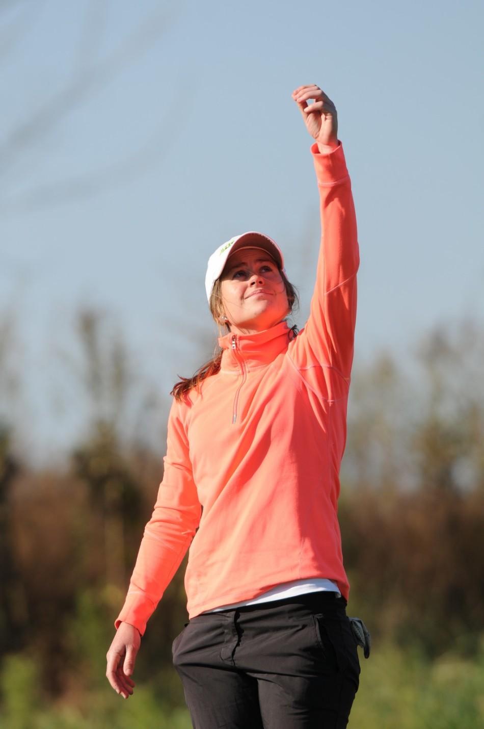 10月16日,伴着4级大风,2014中国房山・长阳业余高尔夫球冠军赛男子