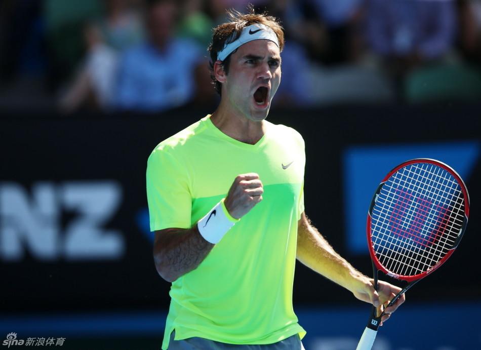 澳网男单费德勒逆转晋级