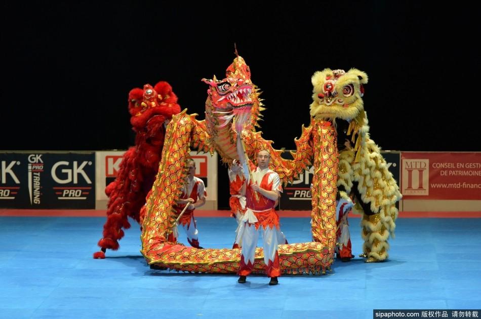 arts),来自不同的国家选手展示了少林功夫,空手道,合气道,大柔术图片