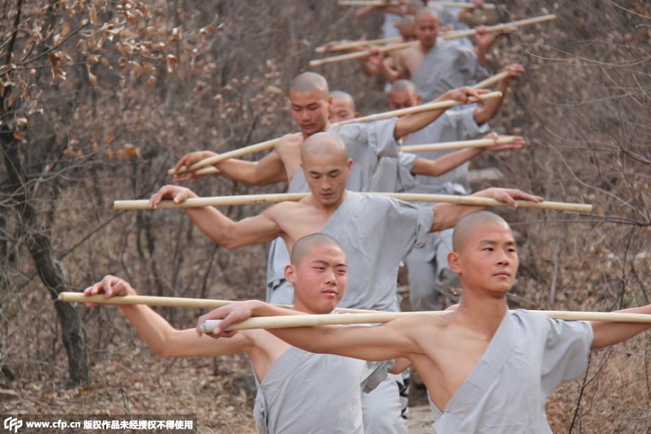 中国武僧少林练神功