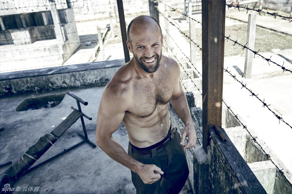 杰森-斯坦森健身写真秀肌肉图片
