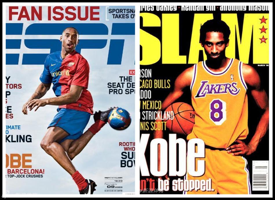 科比上百次登上体育与时尚杂志封面,新浪带. 来自