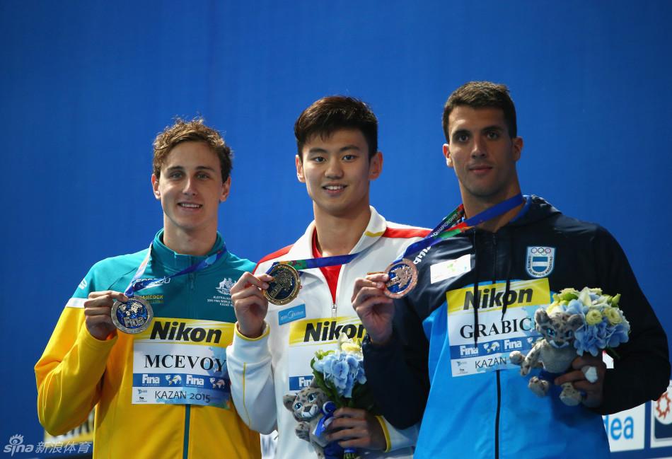赢了!世锦赛男子100米自由泳宁泽涛47秒84夺冠!