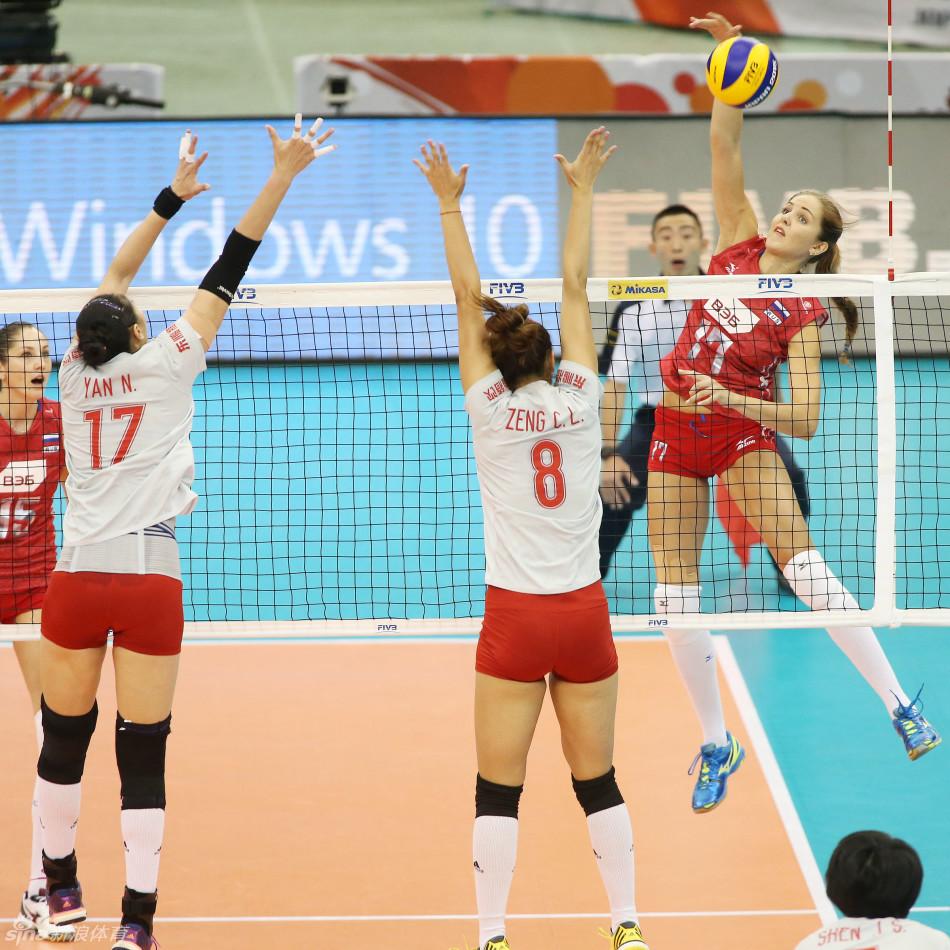 北京时间2015年9月5日,女排世界杯中国3-1战胜俄罗斯.-女排世界杯