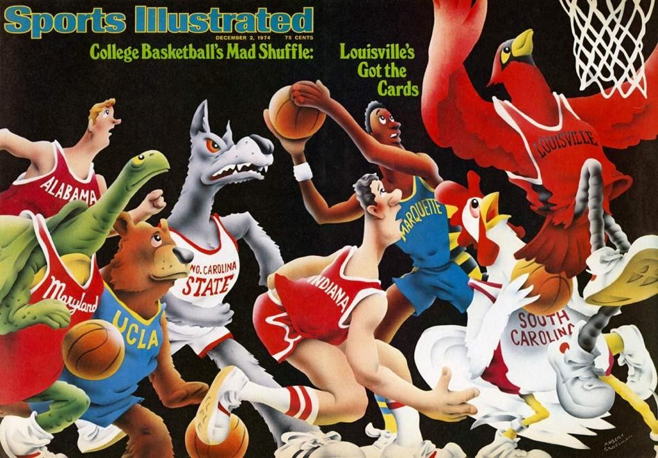 《体育画报》体坛名将漫画封面,飞人乔丹、老虎伍兹、拳王阿里、