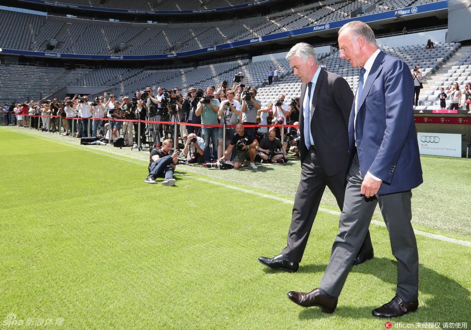 拜仁新帅安切洛蒂正式入主安联图片 307862 950x666