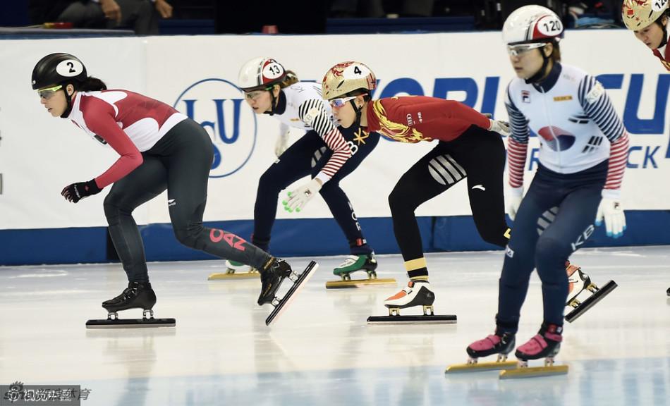 2017赛季国际滑联短道速滑世界杯上海站进入到第三日争夺.女子