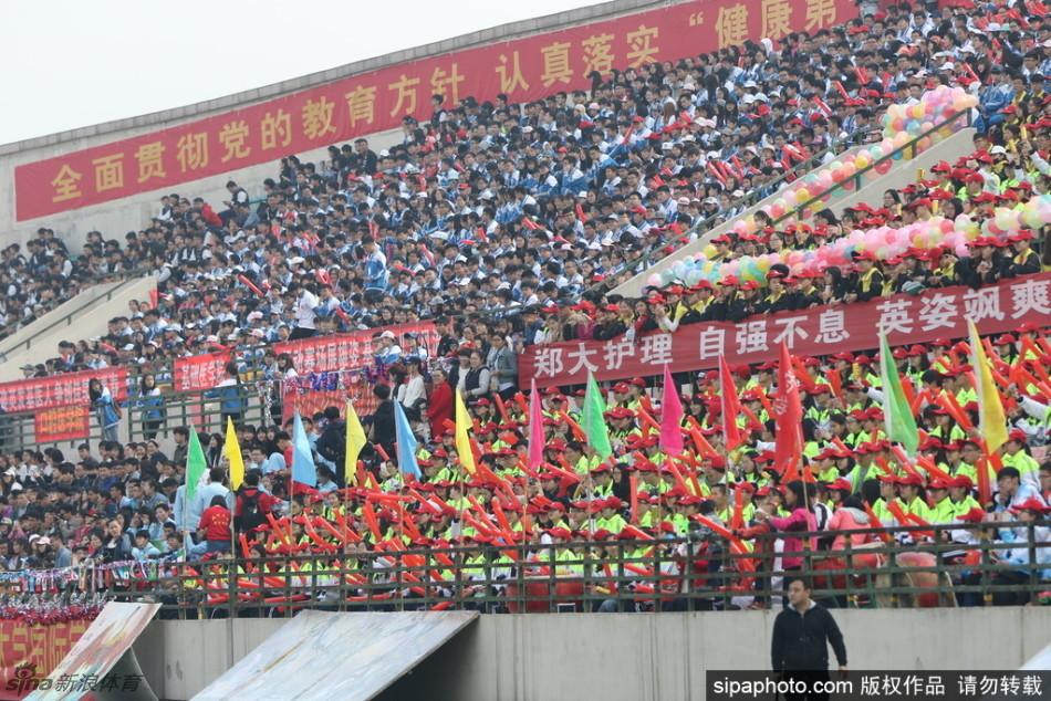 郑州大学运动会空姐旗袍齐上阵