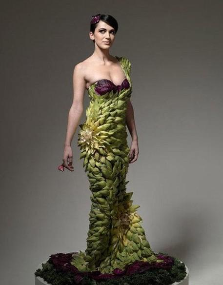 美味食物穿上身 蔬菜水果做礼服
