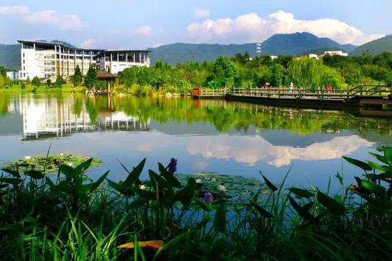 """浙江农林大学植物园是以学校东湖校区为依托,把植物园与校园""""两图片"""