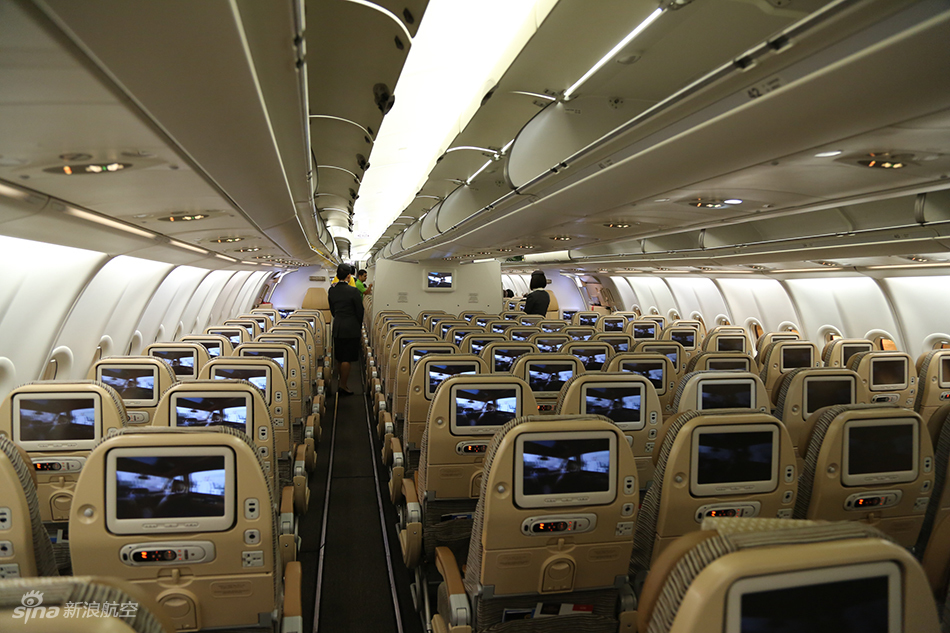 阿提哈德航空a330经济舱布局.(摄影:陈诚 版权所有 不得转载)