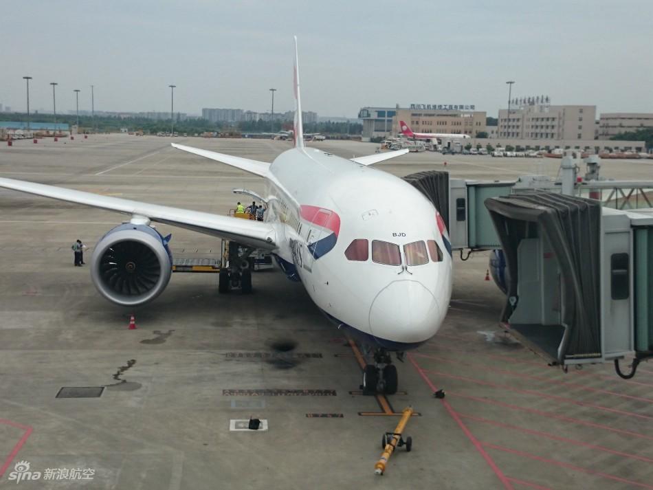 英国航空成都至伦敦航线执飞机型及登机口