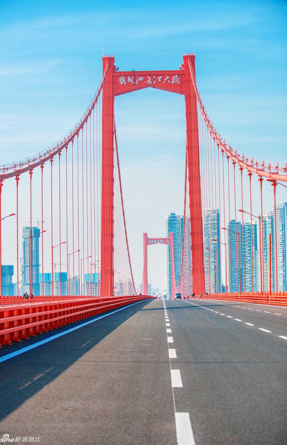 实拍武汉鹦鹉洲长江大桥(摄影:吕丹)图片