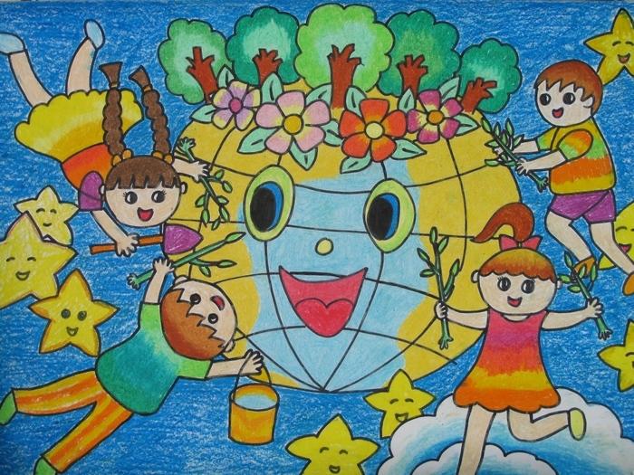 科技幻想画:优秀科技画图片获奖儿童作品10副_图片素材