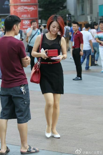 重庆美女街拍 养眼好风景图片