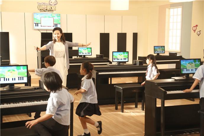The One智能钢琴教室示意图