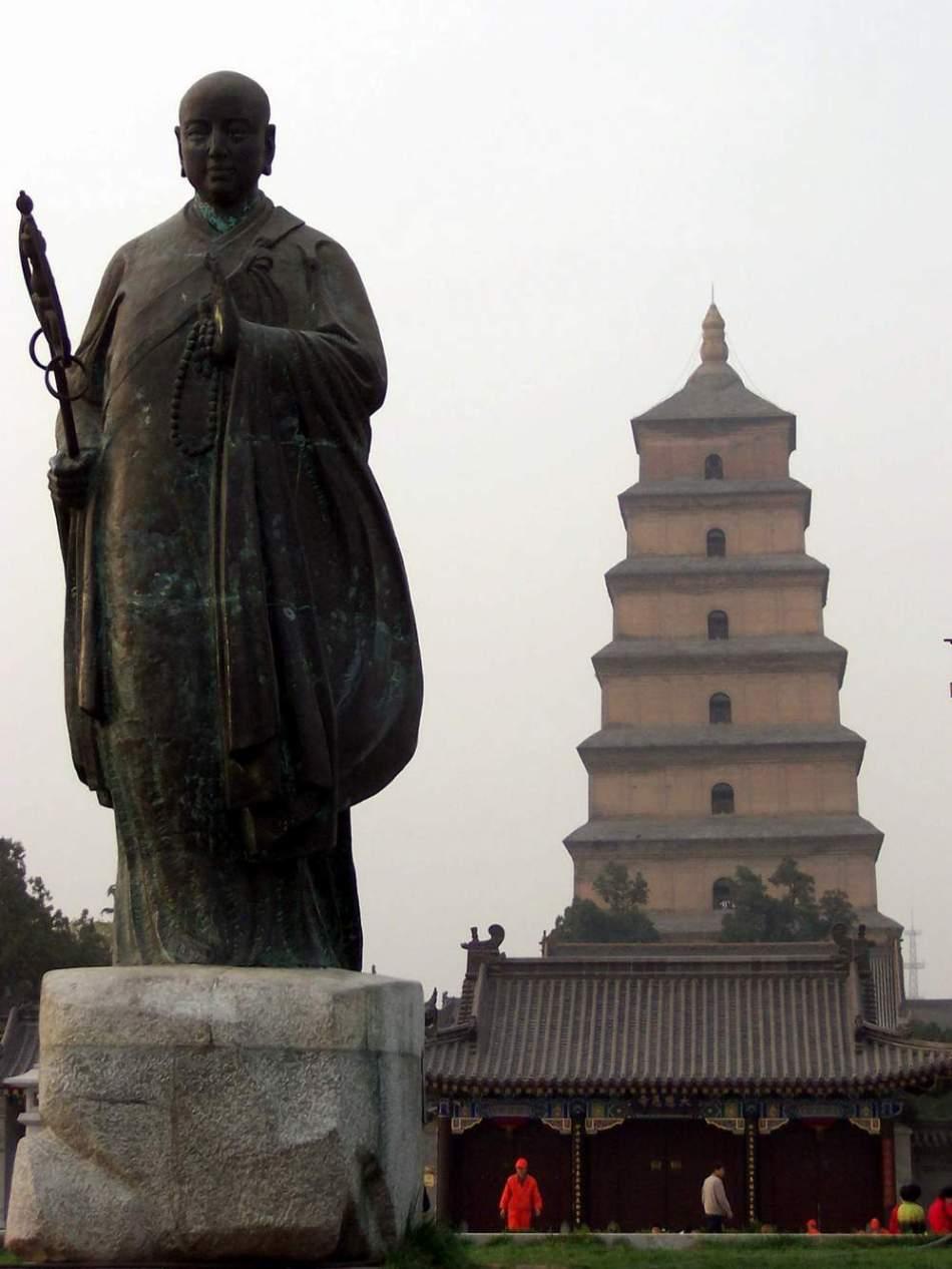 西安大雁塔 倾斜一米堪称中国式比萨斜塔