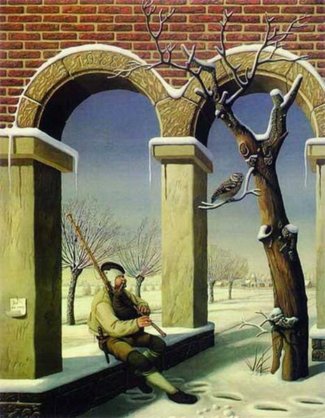 挑战视觉极限的心理图片-M型的拱门