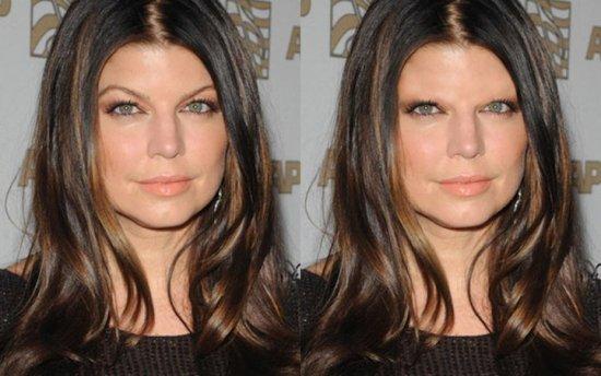 雷人 当photoshop修掉名人的眉毛
