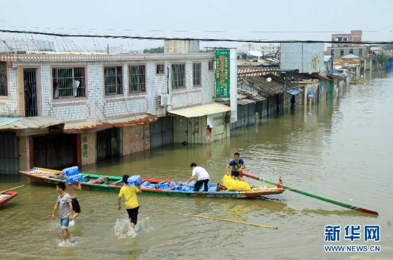 广东汕头洪水未退台风又来