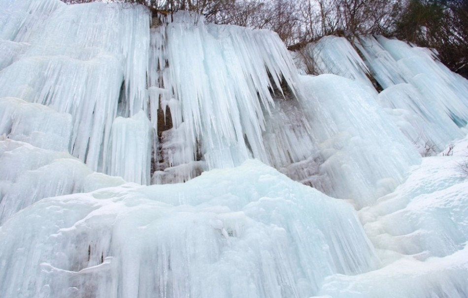 寻找最美冰瀑图片