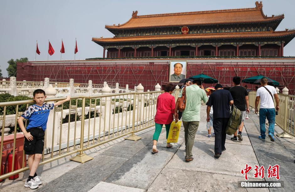 北京天安门城楼 美容 迎国庆
