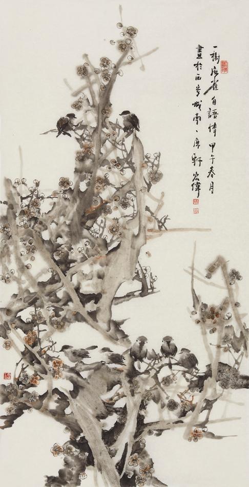 学校社团的钢笔画-画家宋宏伟,西安政府公派与日本京都艺术大学研修日本画,毕业后在
