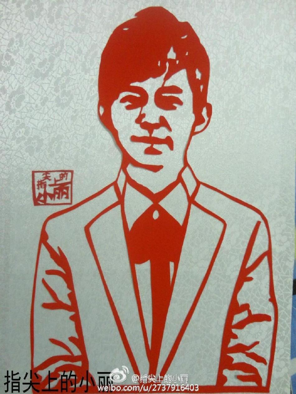 高校女生创业 国家领导人肖像剪纸惟妙惟肖图片